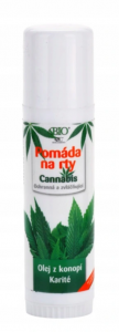 Konopna pomadka do ust z masłem shea BIONE CANNABIS 17ml