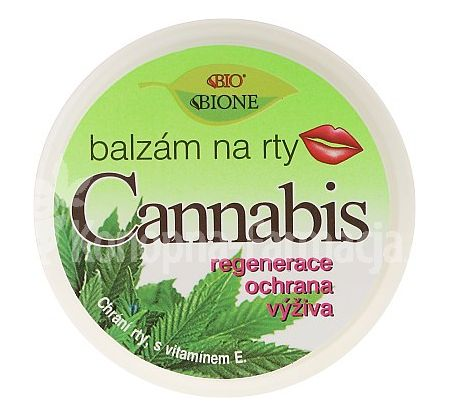 Balsam konopny do ust BIONE COSMETICS CANNABIS 25ml Lip Balm With UV Filter And Vitamin E